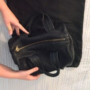 Alexander Wang Rocco Black Pebbled Leather Duffle